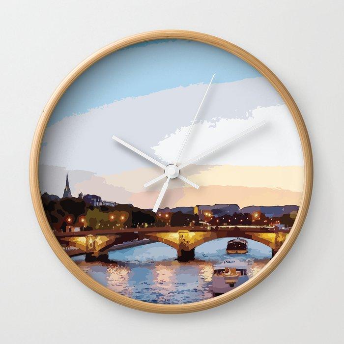 The Seine River Wall Clock