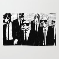 reservoir dogs Area & Throw Rugs featuring Reservoir Dogs by Vitrugo