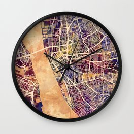 Liverpool England Street Map Wall Clock