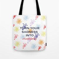 creativity Tote Bags featuring Creativity by Roxana C.