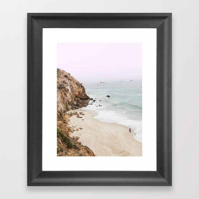 Beach Print - Point Dume, Malibu Framed Art by Fineearthprints FRM7426685