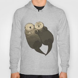 Significant Otters - Otters Holding Hands Hoody