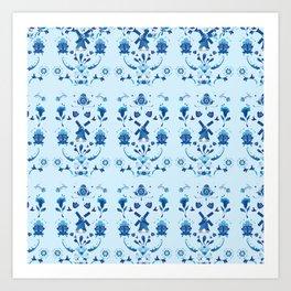 Delft Blauw Art Print