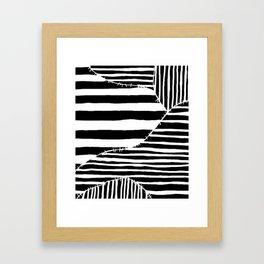 Stripes & Stitches Framed Art Print