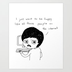All Those People On The Internet Art Print