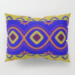 Ethnic African Knitted style design Pillow Sham