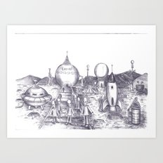 Lowry Aliens Art Print