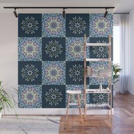 handdrawn abstract winter pattern Wall Mural