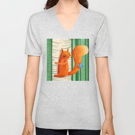 When A Butterly Unexpectedly Drops By For A Visit Unisex V-Neck