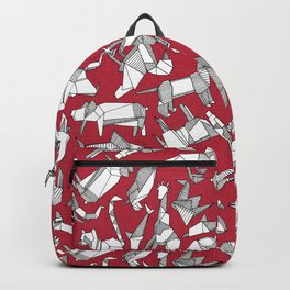 origami animal ditsy red Backpack