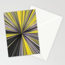 Lightspeed Yellow Grey and white Stationery Cards