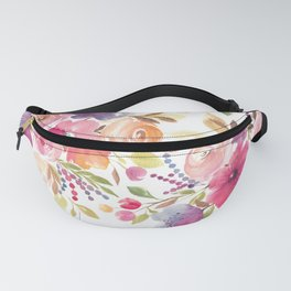 Patterened Pink Florals Fanny Pack