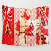 canada Wall Tapestries featuring Oh Canada  by Patti Friday