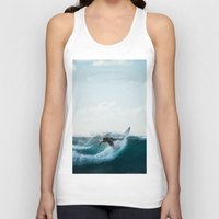 surfing Tank Tops featuring Surfing  by Limitless Design