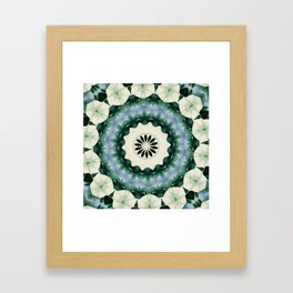 Cerulean Blue and Sacramento Green Mandala Framed Art Print