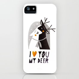 I love you my deer iPhone Case