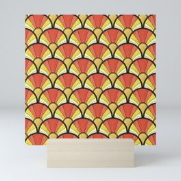 Radiant Sunshine Art Deco Pattern Mini Art Print