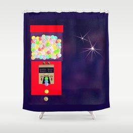 Super Moon Gumball Machine Shower Curtain
