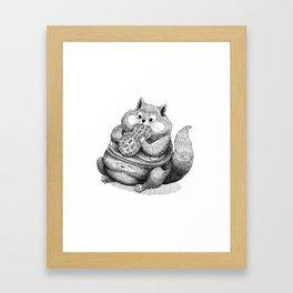 Fat Hamster Framed Art Print