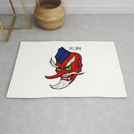 Legendary Tengu Demon Anime Style Rug