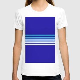 Retro Stripes on Blue T-shirt