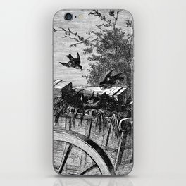 A Bit of Sunshine (1879) - Making a nest with two or three young birds iPhone Skin