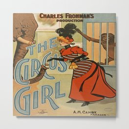 Vintage Circus Girl Poster Metal Print