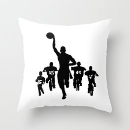 #thejumpmanseries, Boobie Miles Throw Pillow