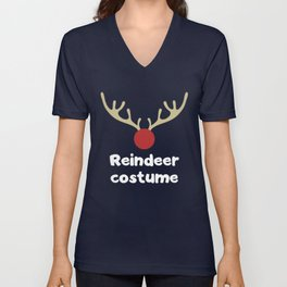 Funny Christmas Reindeer Costume Unisex V-Neck