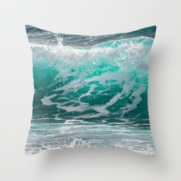 Tropical Surf Throw Pillow