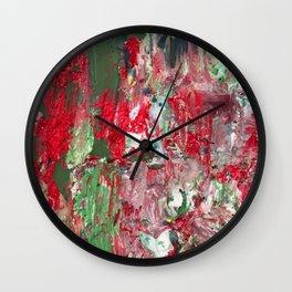 Color Commentary #17: Red & Green [Lena Levin, In Studio With Masters] Wall Clock