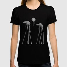 Dali's Mechanical Elephants - Black Sky MEDIUM Womens Fitted Tee Black