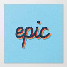 Epic - blue version Canvas Print