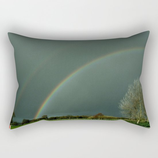 A Colorful Bow for the Rain . . .  Rectangular Pillow