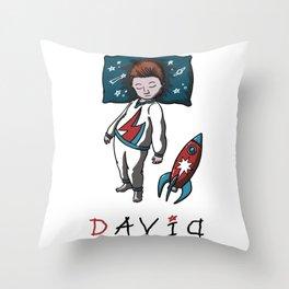 Sleeping artist DAVID Throw Pillow