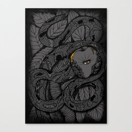 Serpent's Knowledge Canvas Print