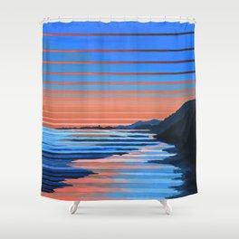 Hendry's Beach Sunset Shower Curtain