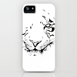 Tiger - black and white iPhone Case