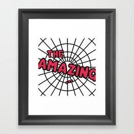 The Amazing Spider Web Framed Art Print