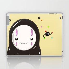Spirited Away No Face Kawaii With Soot Sprites Laptop & iPad Skin