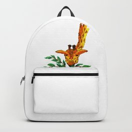 Embroidered giraffe with leaves Backpack