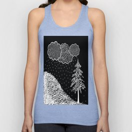 Falling Music and 100% accumulation  Unisex Tank Top