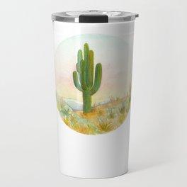 Baja Cactus Sunset Travel Mug