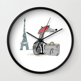 Franc Knew Paris was a Good Idea Wall Clock