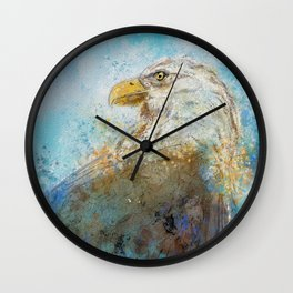 Expressive Bald Eagle Wall Clock