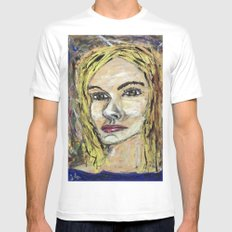 ISABEL White Mens Fitted Tee SMALL