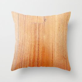 Wood 1 Throw Pillow