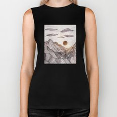 Lines in the mountains Biker Tank