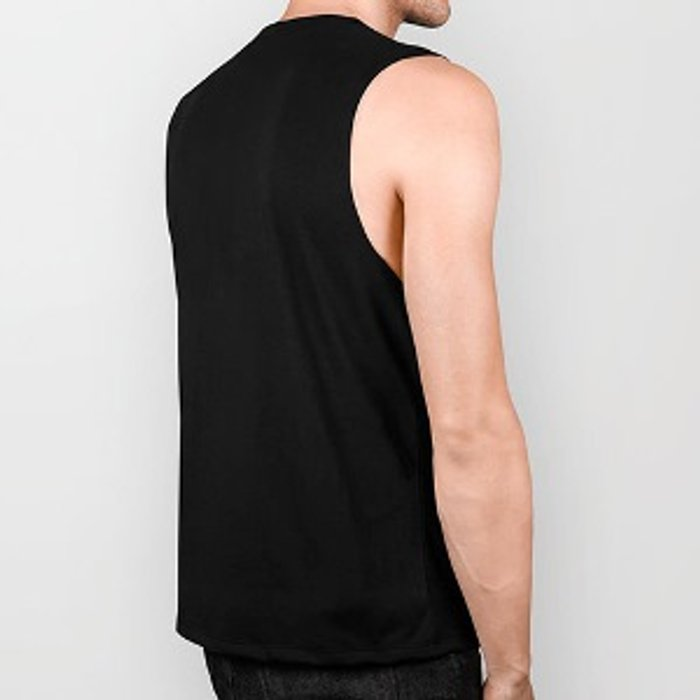 Barbed Wire Black and White Pattern Biker Tank