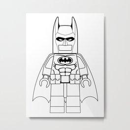 Le-go Bat-Man Metal Print